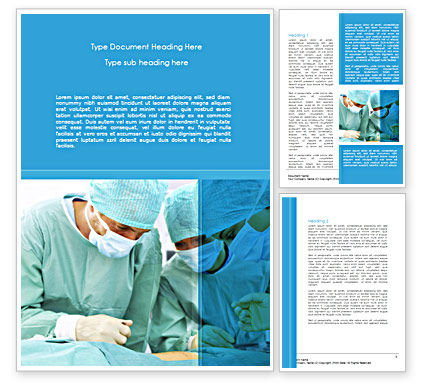 Medical: Surgery Internship Word Template #08427