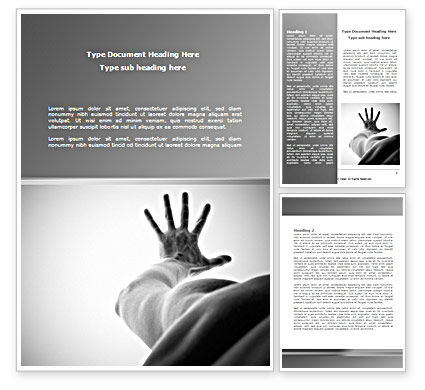 Religious/Spiritual: Reach for Hope Word Template #08431