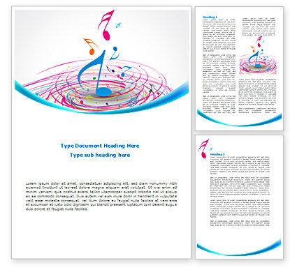 Art & Entertainment: Music Swirl Word Template #08432