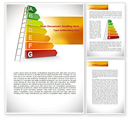 Energy Efficiency Rating Word Template, 08435, Nature & Environment — PoweredTemplate.com