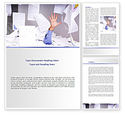 Consulting: Drowning in Paper Word Template #08437