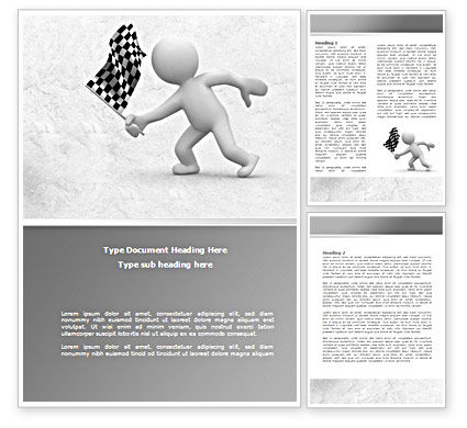 Business Concepts: Starting Word Template #08442