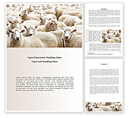 Sheep Flock Word Template