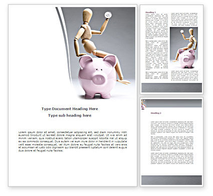Financial/Accounting: Smart Saving Word Template #08446