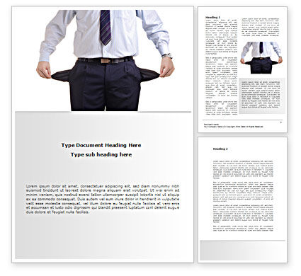 Empty Pockets Word Template, 08450, Financial/Accounting — PoweredTemplate.com