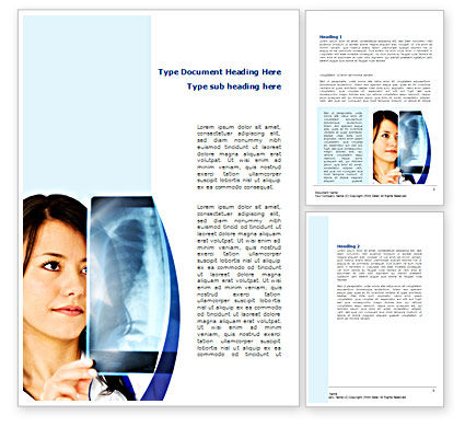 Lungs X-ray Word Template, 08451, Medical — PoweredTemplate.com