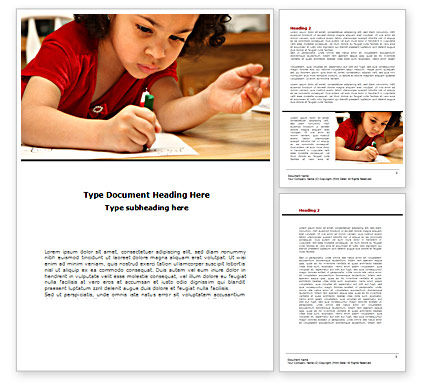 Education & Training: Child Development Word Template #08456