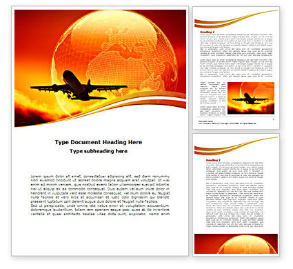 Plane Take Off Word Template