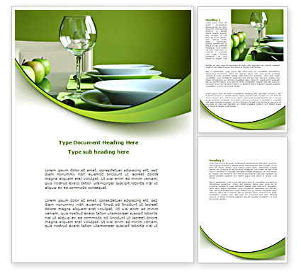 Careers/Industry: Table Setting Word Template #08460