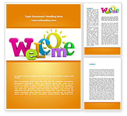 Welcome Word Template, 08470, Business Concepts — PoweredTemplate.com