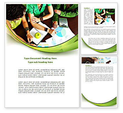 Business: Pie Chart Analysis Word Template #08471