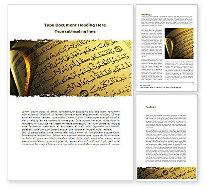 Arabic Book Word Template, 08474, Religious/Spiritual U2014 PoweredTemplate.com  Book Template Word