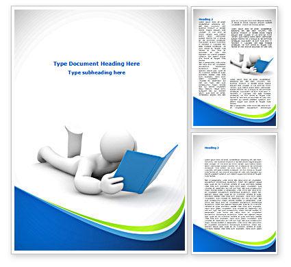 Reader Word Template, 08476, Education & Training — PoweredTemplate.com