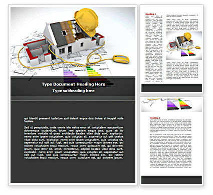 Careers/Industry: House Building Estimate Word Template #08477