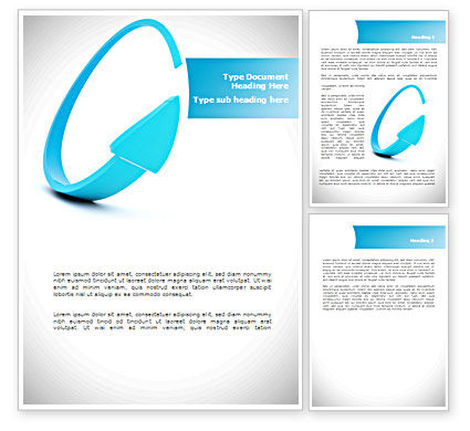 Cycle Arrow Word Template, 08480, Business — PoweredTemplate.com