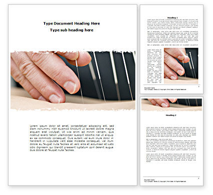 Stylostixis Word Template, 08481, Medical — PoweredTemplate.com