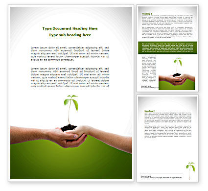 Nature & Environment: Growing Together Word Template #08482