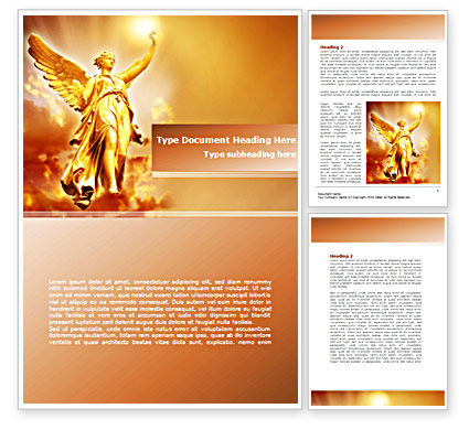 Religious/Spiritual: Guardian Angel Word Template #08486