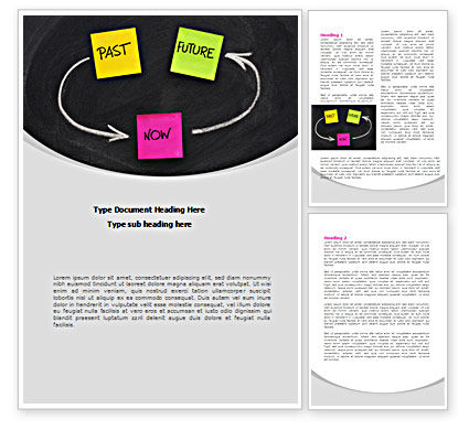 Past Future Now Word Template, 08494, Consulting — PoweredTemplate.com
