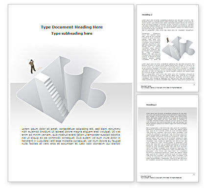 Searching Solutions Word Template, 08499, Consulting — PoweredTemplate.com