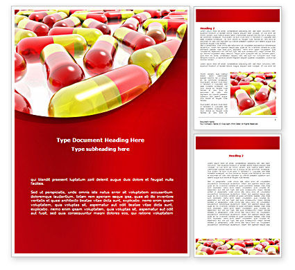 Pilule Word Template, 08501, Medical — PoweredTemplate.com