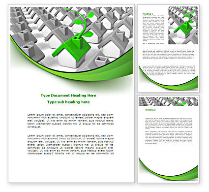 Careers/Industry: Eco House Germ Word Template #08502