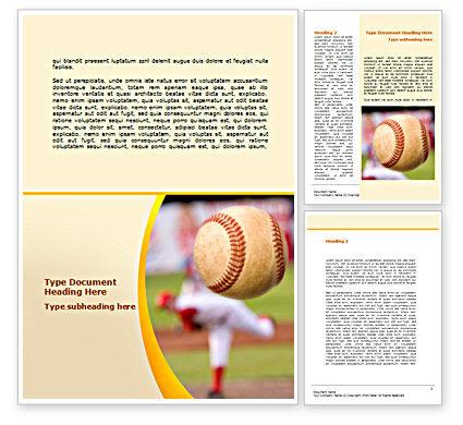 Baseball Pitcher Throw Word Template, 08506, Sports — PoweredTemplate.com