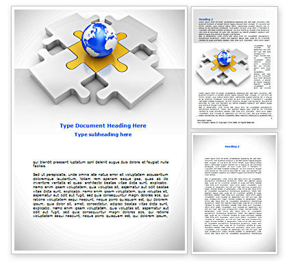 International Solutions Word Template, 08507, Global — PoweredTemplate.com