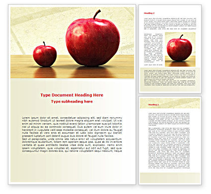 Sweet Apples Word Template, 08509, Consulting — PoweredTemplate.com