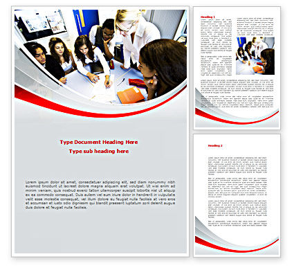 Education Conference Word Template, 08510, Education & Training — PoweredTemplate.com