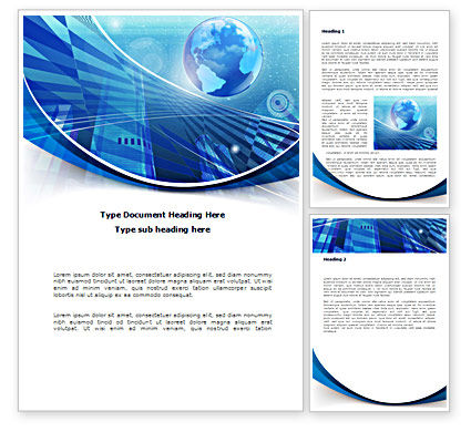 Global: Business Planet Word Template #08515