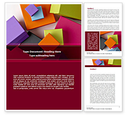 Fancy Boxes Word Template, 08521, Business — PoweredTemplate.com