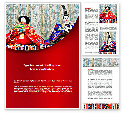 Art & Entertainment: Japanese Traditions Word Template #08524