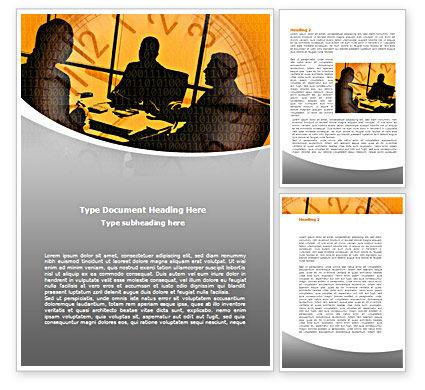 Business Talking Word Template, 08525, Business — PoweredTemplate.com