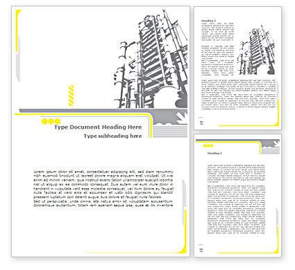 Utilities/Industrial: 워드 템플릿 - 화학 공업 정류 칼럼 #08526