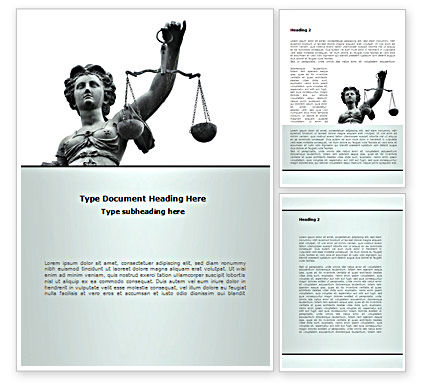 Legal: Themis Goddess of Justice Word Template #08531