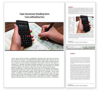 Financial/Accounting: Financial Calculating Word Template #08532