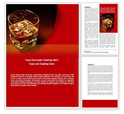 Whiskey in Rock Word Template, 08534, Food & Beverage — PoweredTemplate.com