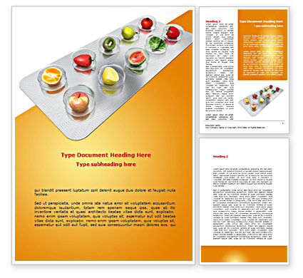 Careers/Industry: Healthy Pills Word Template #08536