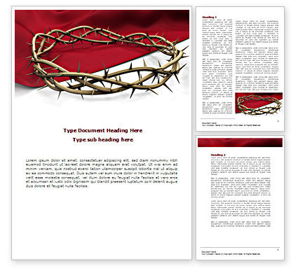 Religious/Spiritual: Crown Of Thorns Word Template #08546