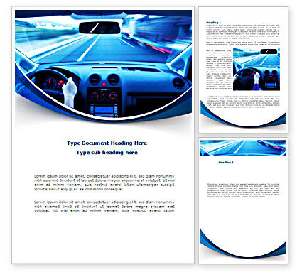 Ride Fast Word Template, 08547, Cars/Transportation — PoweredTemplate.com
