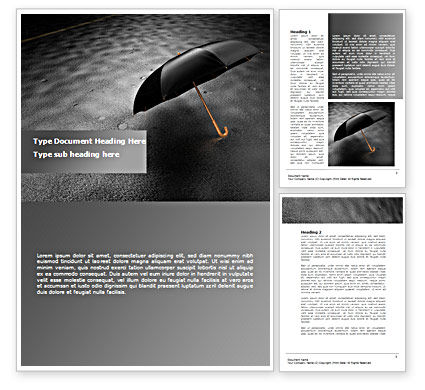 Rainy Day Word Template, 08550, Consulting — PoweredTemplate.com