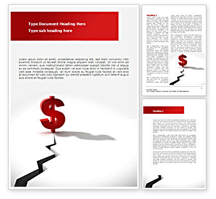 Financial Gap Word Template, 08558, Financial/Accounting — PoweredTemplate.com