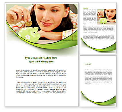 Saving Word Template, 08559, Financial/Accounting — PoweredTemplate.com