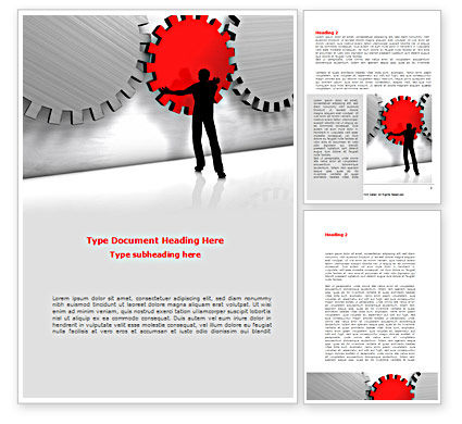 Specialist Word Template, 08563, Business Concepts — PoweredTemplate.com