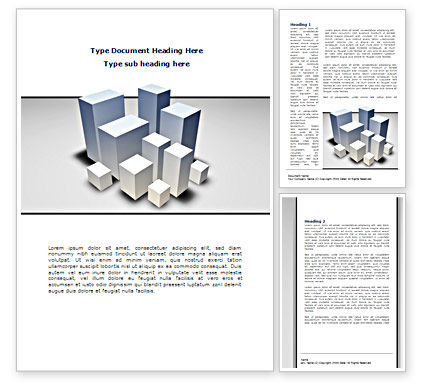 Urban Sprawl Word Template, 08564, Business — PoweredTemplate.com