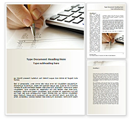 Calculation Accounts Word Template, 08565, Financial/Accounting — PoweredTemplate.com