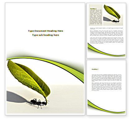 Spring Ant Word Template, 08566, Business Concepts — PoweredTemplate.com