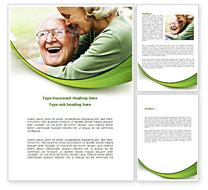 Elderly Couple Word Template, 08571, People — PoweredTemplate.com