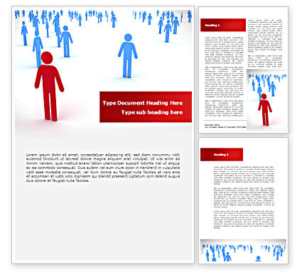 Leader Of Community Word Template, 08572, People — PoweredTemplate.com